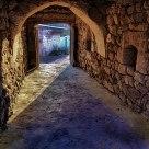 Avanos'ta bir çömlekçi girişi