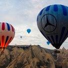 Kapadokya'da balonla seyahat