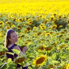 Zuzka and sunflower