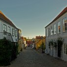 Narrow streets of cobble stones