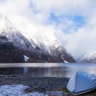 Boat in winter storage, Hyen - Norway