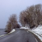 Last year's last snowfall, Gloppefjorden - Norway