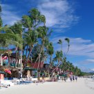 Boracay has a long beach