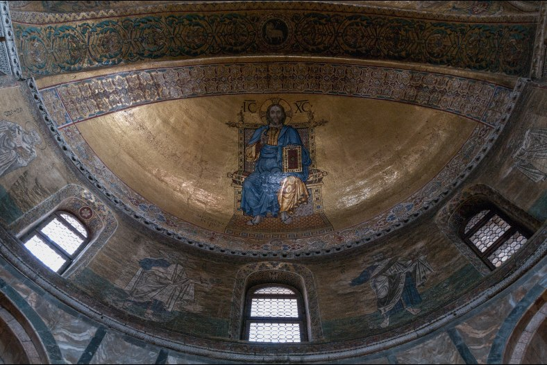 Christ Pantocrator, undisputed ruler of the Byzantine apse