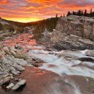 Swiftcurrent Creek Sunrise