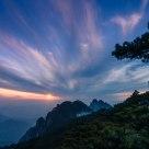 大美黄山,丹霞日落。
