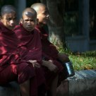Three Monks By The Street
