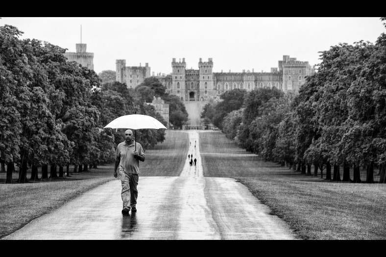 Rain - photographers best friend - Windsor Castle UK