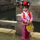 Little girl at Luzhi Ancient Town