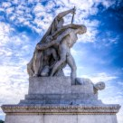 Piazza Venezia Statue