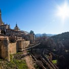 Cathedral of Segovia seen from outside the city's walls
