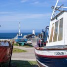 Still longing for the salt sea, the waves and the high sky. Old boats in Rosehearty Harbour by Moray Firth - Scotland