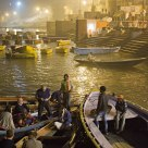 Boats on the river Ganges at night (2)