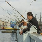 Fishers at Galata Bridge