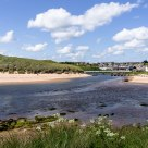 The white bridge across the Water of Cruden.  Cruden Bay - Scotland