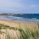 A fine beach day. The city of Fraserburgh - Scotland.