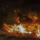 Thru the bonfire
