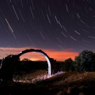 Startrails over the arch