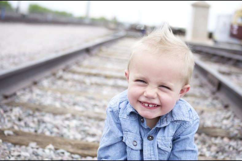 Smile on the tracks