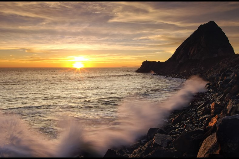 Mugu Rock Starburst Sunset