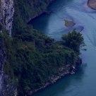 Sampan in river