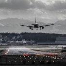 Zurich Int. Airport Crosswind landing