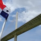 Panamanian Flag and Centennial Bridge