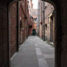Walkway to the kitchens, Hampton Court Palace