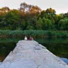 At lake