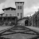 Internal garden, Roman Baths, Park Sanssouci (B&W)