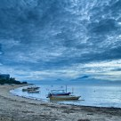 Sanur Beach overlooking Mount Agung