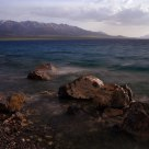 Sayram Lake at Dusk