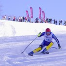 At slalom competition