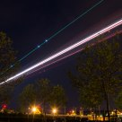 Air Berlin aproach ZRH Airport by night