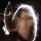 Sparklers in motion