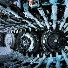 Inside a snowcat's track