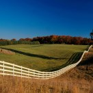 White Fences in Virginia Countryside