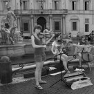 Street artists: A string trio