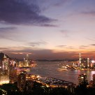 Magic moment of Victoria Harbour