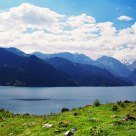 lakes on the tops of the Tianshan Mountain