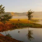 July morning on the steppe river