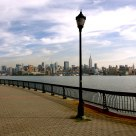 Walking in Hoboken and enjoying the NYC view