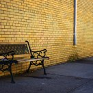 Bench at the corner street
