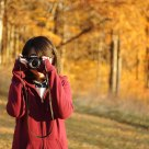 Girl with Pentax K2 in Brown