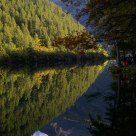 Inverted image:Mirro Lake,Jiuzhaigou,Sichuan
