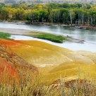 Five-color beach in Burqin,Xijiang
