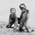 CHILDHOOD AT THE RIVERSIDE OF MEKONG