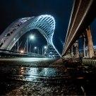 Ponte di Notte dopo la Pioggia . After Rain Night Bridge