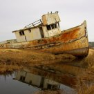 A Sunken Boat at Point Reyes
