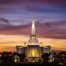 Gilbert Temple at Sunset